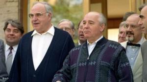Helmut Kohl şi Mihail Gorbaciov