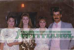 Familia Lalande (Arlene Dianne şi Alain Roger), adoptatorii canadieni, împreună cu fiicele lor legitime.