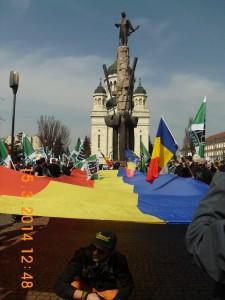 Manifestaţie exemplară a patrioţilor de la Noua Dreaptă la Cluj Napoca.