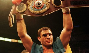 Vitaly Klitschko after winning the WBO world heavyweight championship in 1999