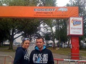 """Andra Sandu şi Mihai Grigorie, zis """"Hingherul"""", în Germania cu un transport de câini."""