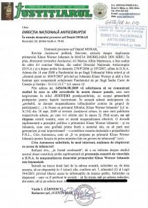 """În ceea ce-l priveşte pe Iohannis Klaus Werner, DNA a adoptat permanent """"politica struţului""""!"""