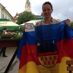 """Propagandă pentru așa-zisa """"Transilvanie independentă"""": Adele Ludwig, o săsoaică stabilită în Germania."""