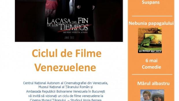 COMUNICAT DE PRESĂ CICLUL DE FILME VENEZUELENE 5-7 MAI 2015 MUZEUL NAȚIONAL AL ȚĂRANULUI ROMÂN  Ambasada Republicii Bolivariene Venezuela […]