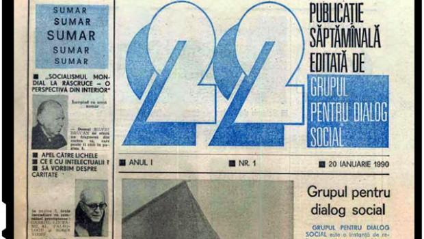 """Grupul pentru Dialog Social (GDS) și revista """"22""""… Acestea două sunt instrumentele de indobitocire prin care […]"""