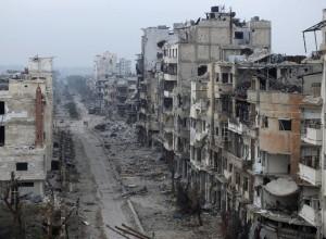 Străzile fostelor orașe ale Siriei, devenite ruine astăzi.