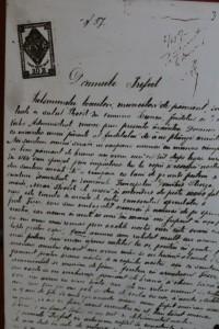 Jalba ţăranilor trimisă Prefectului de Botoşani .