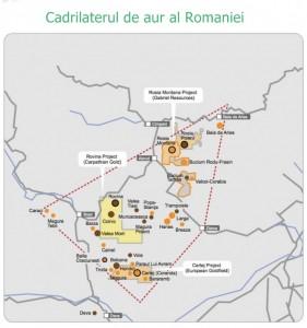 Cadrilaterul de aur al României.