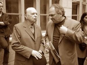 Silviu Brucan (Saul Bruckner) și Gabriel Liiceanu.