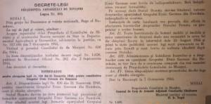 Decretul – Lege nr. 485, din 7 octombrie 1944