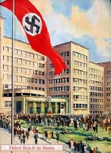Intrarea în sediul I.G. Farben în timpul nazismului german.