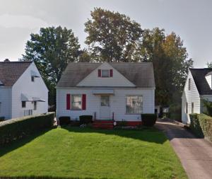 Casa în care se ascunde infractorul Trif Mihai Marcel și adresa: 21202 Franklin Road, Maple Heights – Ohio, United States of America.