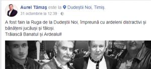 """Aurel Tămaș: """"Trăiască Banatul și Ardealul!""""..."""