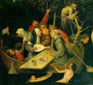 Corabia Nebunilor, Hieronymus Bosch, 1500.