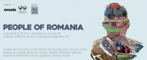 """Afișul expoziției """"People of Romania"""" despre oamenii din satele Romaniei, """"asistatii social"""" (sic!)."""