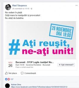 "Vlad Taușance susține, bineînțeles, ""Justitia DNA""."