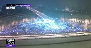 Cati protestatari erau in Piata Constitutiei, in seara de 20 ian. 2018, la ora 21:00.