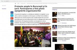 Foto 4 : Digi24 sustine ca in Piata Constitutiei au fost peste 60.000 de persoane.