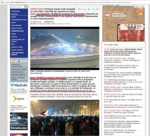 Foto 5: HotNews sustine ca 70.000 de persoane au fost prezente in Piata Constitutiei.