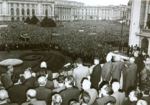 Condamnarea intervenţiei trupelor Tratatului de la Varşovia în Cehoslovacia a fost momentul de glorie al lui Nicolae Ceauşescu. De la balconul sediului CC, a doua zi după invazie, în 21 august 1968, liderul român a rostit o cuvântare care a făcut înconjurul lumii.