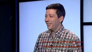 Alexandru Solomon este directorul festivalului One World România.