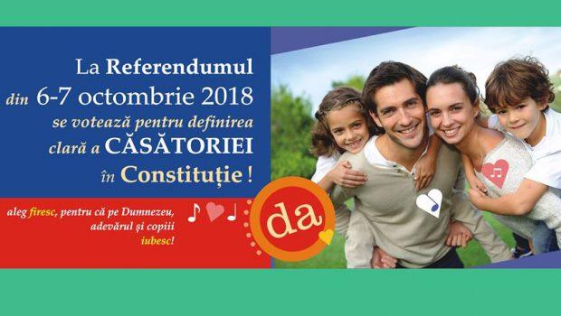 """O lume întreagă, la Referendumul din 6-7 octombrie a.c,este cu """"ochii"""" spre România!  DA, pentru Familia naturală! DA, […]"""