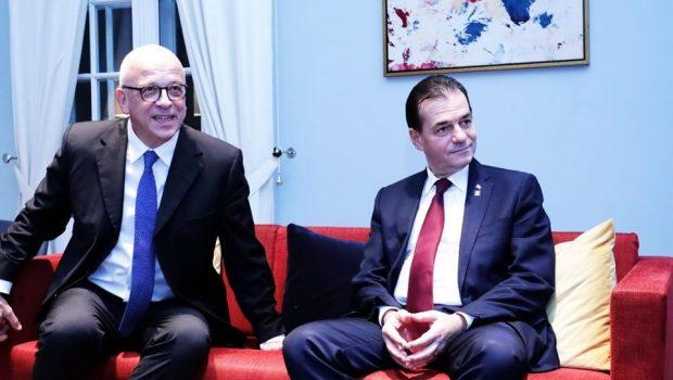 """""""Luni, 16 Decembrie 2019: Premierul Ludovic Orban a participat la recepția organizată de Ambasada Germaniei în România, împreună cu reprezentanți […]"""