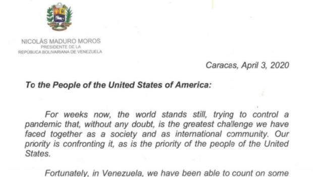 CARACAS, 03 aprilie 2020           Către Poporul Statelor Unite ale […]