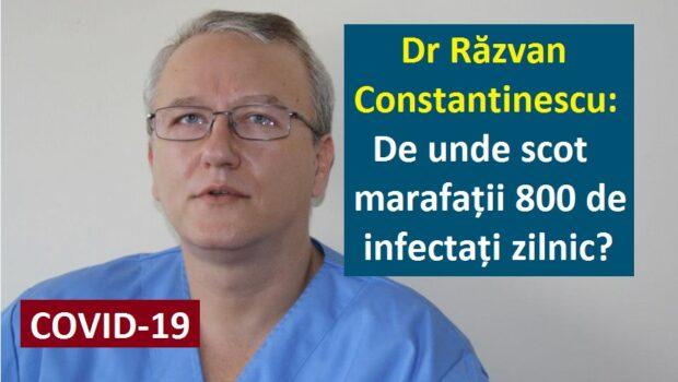 Dr. Răzvan Constantinescu are o NEDUMERIRE: De unde scot marafații 800 de infectați cu COVID zilnic? Doctorul Răzvan Constantinescu […]